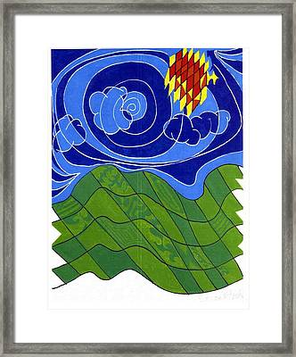 Land 2 Framed Print by Howard Yosha