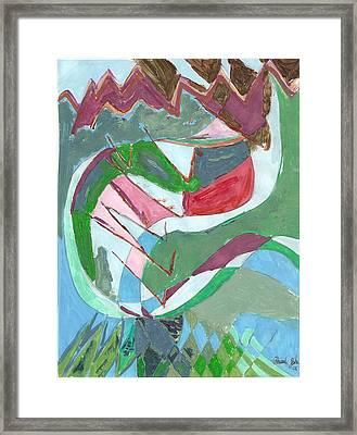 Land 3 Framed Print by Howard Yosha