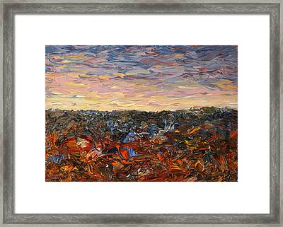 Land And Sky 2 Framed Print by James W Johnson