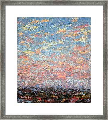 Land And Sky 3 Framed Print by James W Johnson