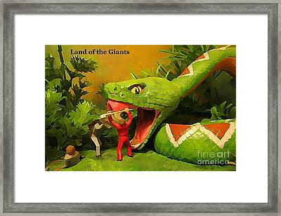 Land Of The Giants Framed Print by John Malone