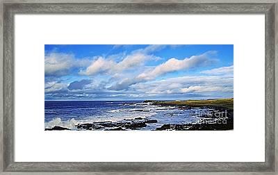 Land Sea And Sky Framed Print by Nina Ficur Feenan