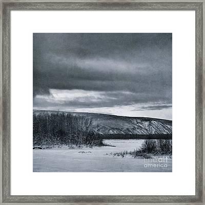 Land Shapes 14 Framed Print by Priska Wettstein