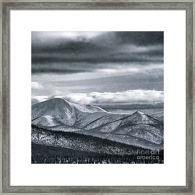 Land Shapes 4 Framed Print by Priska Wettstein