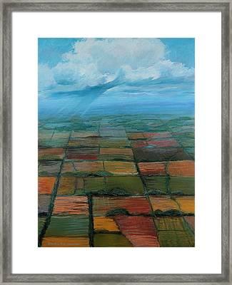 Land Use Framed Print by Art Nomad Sandra  Hansen