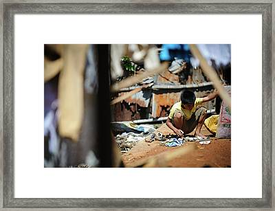 Landfill Scavenging Framed Print by Matthew Oldfield