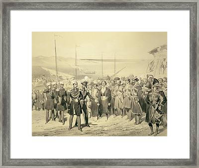 Landing Of A Military Leader Framed Print by Grigori Grigorevich Gagarin