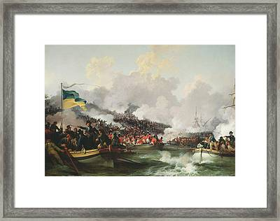 Landing Of British Troops At Aboukir, 8 March 1801, 1802 Oil On Canvas Framed Print by Philip James Loutherbourg