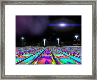 Landing Pad 5 A M Framed Print by Wendy J St Christopher