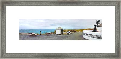 Lands End Panoramic Framed Print by Linsey Williams