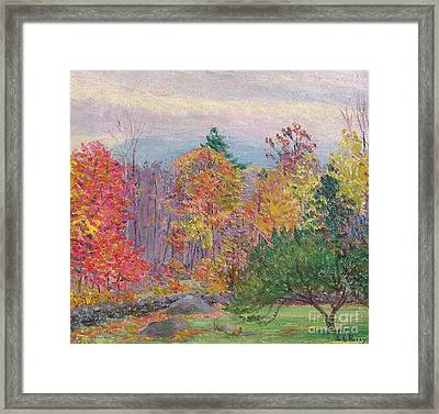 Landscape At Hancock In New Hampshire Framed Print by Lilla Cabot Perry