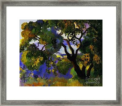 Landscape At St Tropez  2 Framed Print by Pg Reproductions