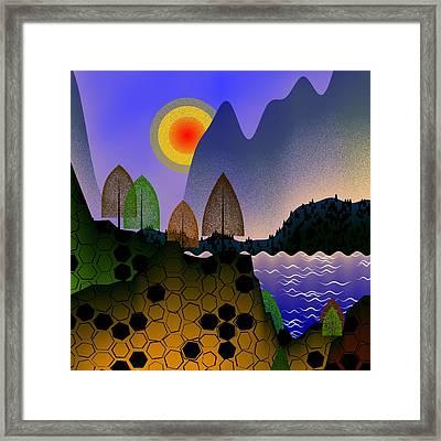 Landscape Framed Print by GuoJun Pan