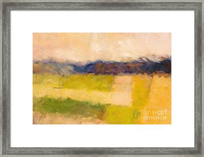 Landscape Impression Framed Print by Lutz Baar