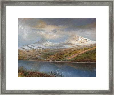 Landscape In The Tatra Mountains Framed Print by Laszlo Mednyaszky