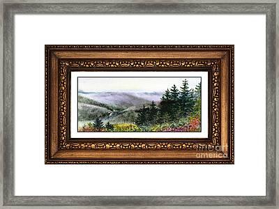 Landscape In Vintage Frame Framed Print by Irina Sztukowski