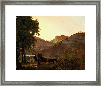 Landscape Framed Print by Joseph Wright of Derby