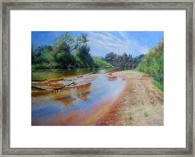Landscape Framed Print by Nancy Stutes