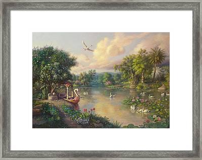 Landscape Framed Print by Satchitananda das Saccidananda das