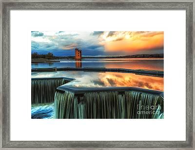 Landscape Strathclyde Park Weir  Framed Print by John Farnan