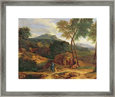 Landscape With Conopion Carrying Framed Print by Jean Francois I Millet