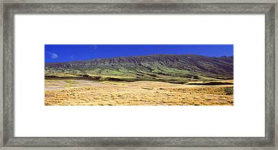Landscape With Haleakala Volcanic Framed Print by Panoramic Images