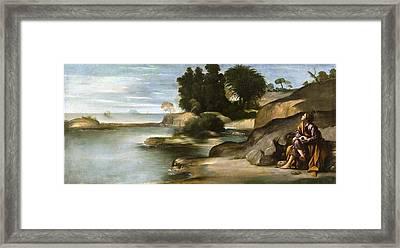 Landscape With St John The Evangelist Framed Print by Juan Bautista Maino