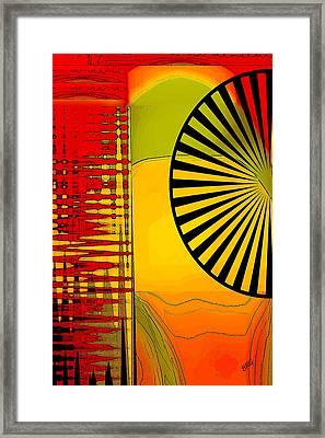 Landscape With Umbrella Framed Print by Ben and Raisa Gertsberg