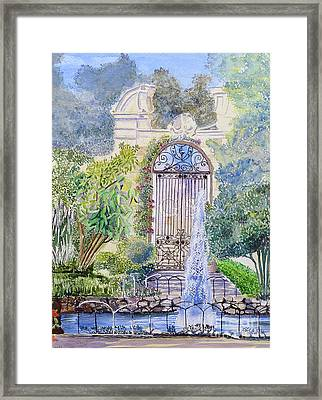 Landscaped Gardens Framed Print by Godwin Cassar
