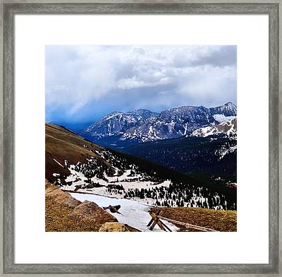Lookout Point From Trail Ridge Road Framed Print by Dan Sproul