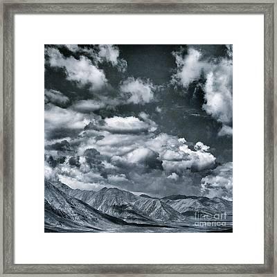 Land Shapes 28 Framed Print by Priska Wettstein