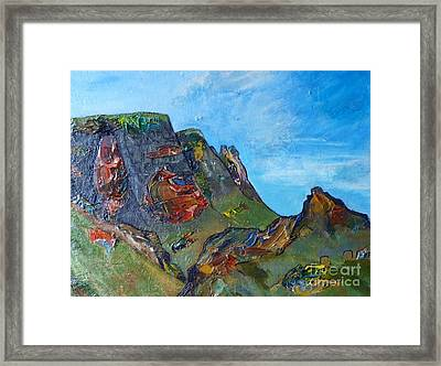 Landslip - Skye Framed Print by Jacki Wright