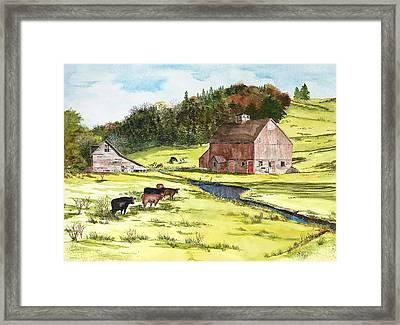 Lanesboro Barn Framed Print by Susan Crossman Buscho
