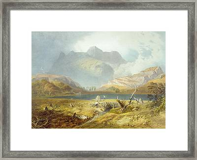 Langdale Pikes, From The English Lake Framed Print by James Baker Pyne