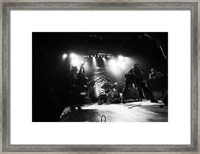 Langhorne Slim And The Law Black And White Two Framed Print by Ty Helbach