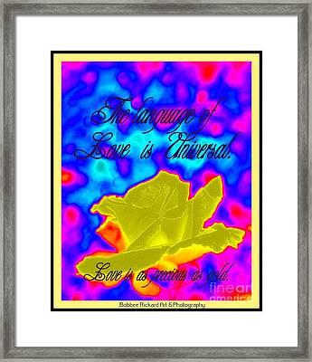 Language Of Love Framed Print by Bobbee Rickard