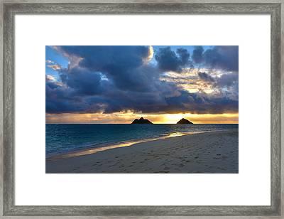 Lanikai Beach Sunrise 3 - Kailua Oahu Hawaii Framed Print by Brian Harig