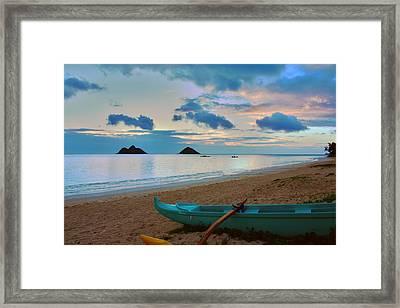 Lanikai Beach Sunrise 6 - Kailua Oahu Hawaii Framed Print by Brian Harig