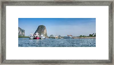 Lanta Island Dock Framed Print by Adrian Evans