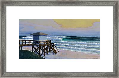 Lantana Lifeguard Stand Framed Print by Nathan Ledyard