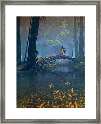 Lantern Bearer Framed Print by Cynthia Decker