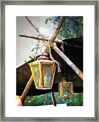 Lanterns Framed Print by Marty Koch