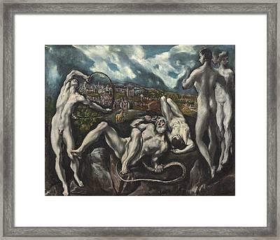 Laocoon Framed Print by Domenico Theotocopuli El Greco