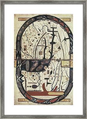 Lapocalypse De Saint Sever. 11th C Framed Print by Everett