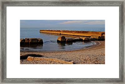Lapping Water Framed Print by Frozen in Time Fine Art Photography