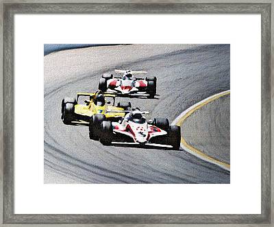 Laps Framed Print by Dennis Buckman