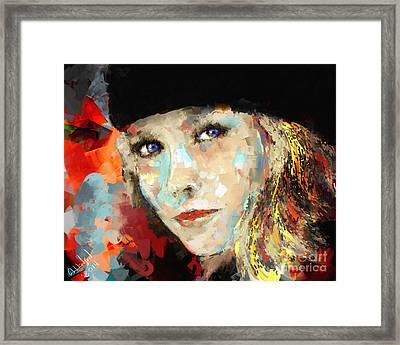 Lara Framed Print by Arne Hansen