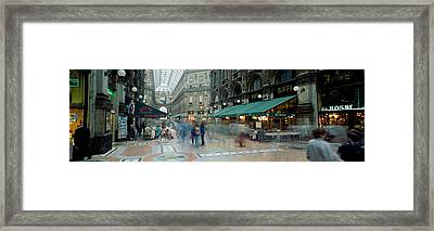 Large Group Of People On The Street Framed Print by Panoramic Images