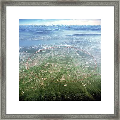 Large Hadron Collider Framed Print by Cern