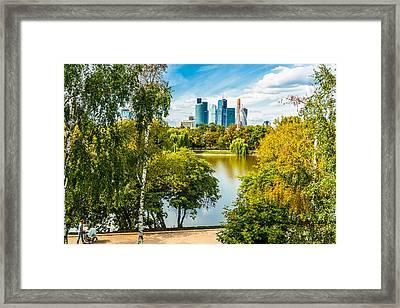 Large Novodevichy Pond Of Moscow - 1 Framed Print by Alexander Senin